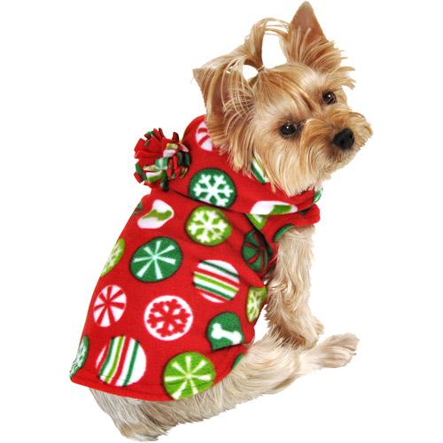 SimplyDog Ornament Print Fleece Jacket