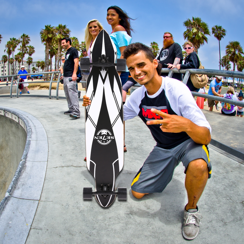 "41"" Complete Longboard Skateboard for Kids Adults Canadia..."
