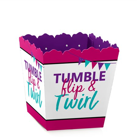 Tumble, Flip & Twirl - Gymnastics - Party Mini Favor Boxes - Gymnast or Birthday Party Treat Candy Boxes - Set of 12