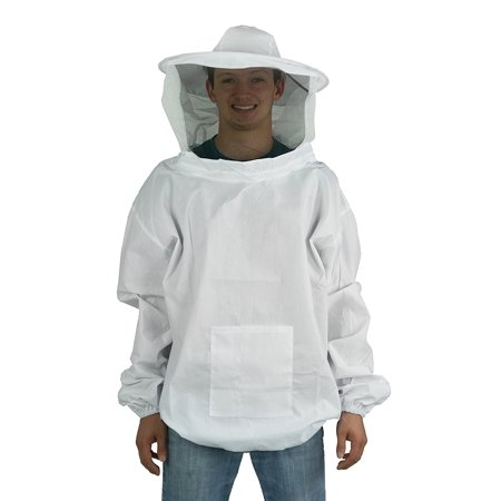 New Professional White XL / Extra Large Beekeeping / Bee Keeping Suit, Jacket, Pull Over, Smock with a Veil by (BEE-V105XL) By VIVO Ship from US](Professional Gorilla Suit)