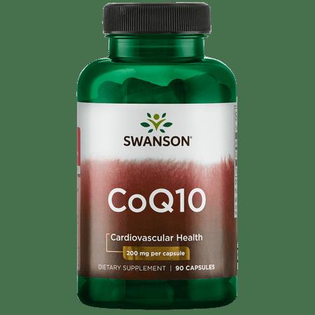 Swanson CoQ10 Capsules, 200 mg, 90