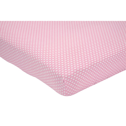Little Bedding by NoJo Elephant Time Crib Sheet, Pink