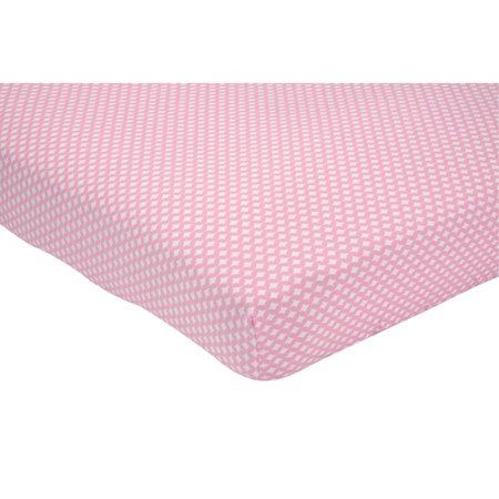 Little Bedding By Nojo Elephant Time Crib Sheet  Pink