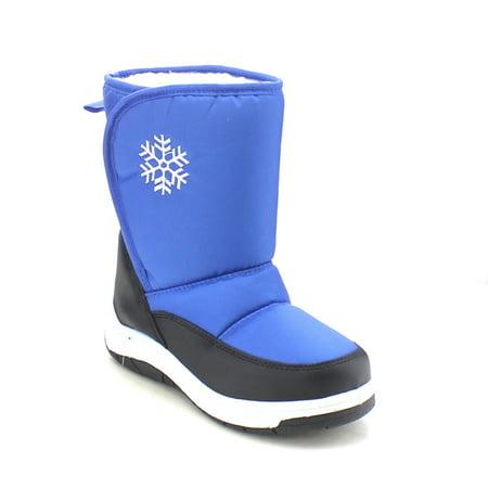 Girls Flower Boots (VIA PINKY SCARLETT-53F Children Girl Comfort Flower Warm Mid Calf Snow)