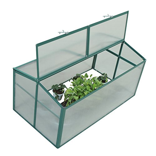 Outsunny 52 x 28 in. Aluminum Vented Cold Frame Greenhouse by Aosom LLC