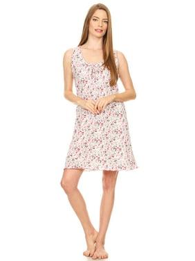 eb9299eb8 Product Image 1901 Womens Nightgown Sleepwear Cotton Pajamas - Woman  Sleeveless Sleep Dress Nightshirt Pink XL