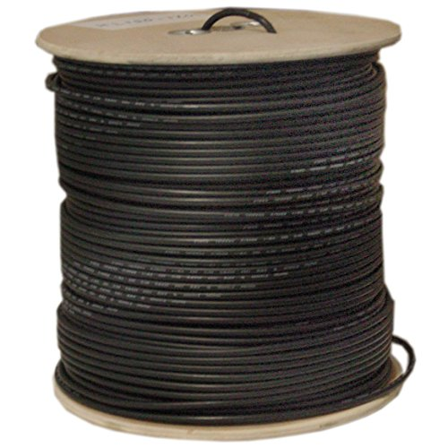 CableWholesale RG6 / UL 18 AWG 1000-Feet Coaxial Bulk Cable, Black (10X4-022NH)