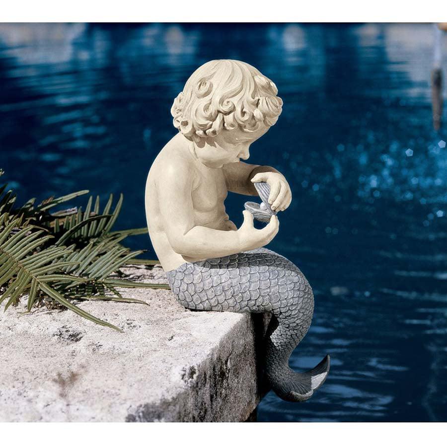 Design Toscano The Ocean's Little Treasures Mermaid Statue