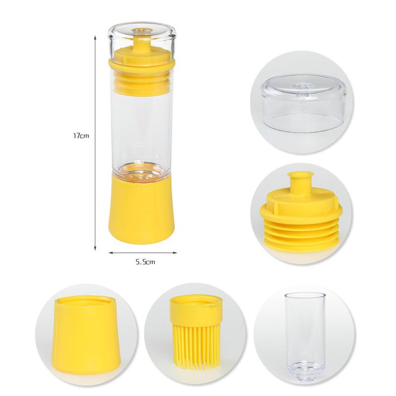 Topboutique Non-Clogging 3-in-1 Pour, Baste, Store Space Saver Cruet Silicone Olive Oil, Vinegar, Salad... by