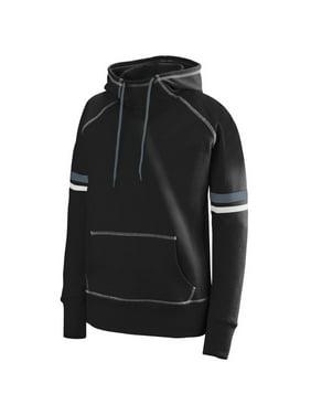 Augusta Sportswear M Girls Spry Hoodie Black/White/Graphite 5441