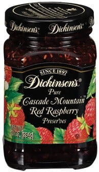 Dickinson's Cascade Mountain Red Raspberry Preserves, 10 Oz by JM SMUCKER