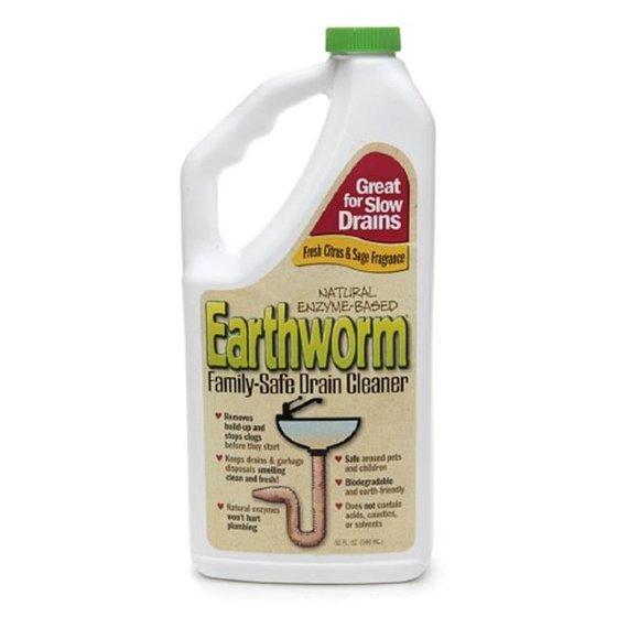 Earthworm Family Safe Drain Cleaner, 32 Oz