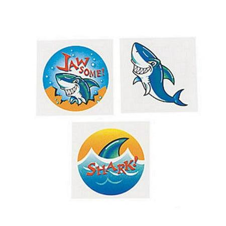 Shark Temporary Tattoos 72 ct - Shark Tattos