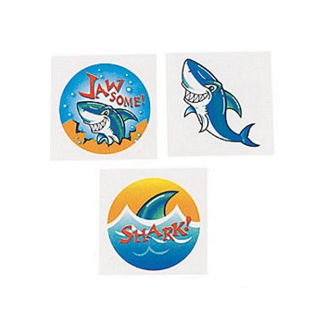Shark Temporary Tattoos 72 ct for $<!---->