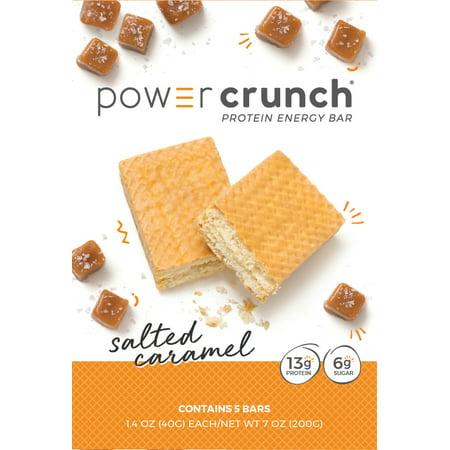 Powercrunch Original Protein Bar, 13g Protein, Salted Caramel, 7 Oz, 5 Ct