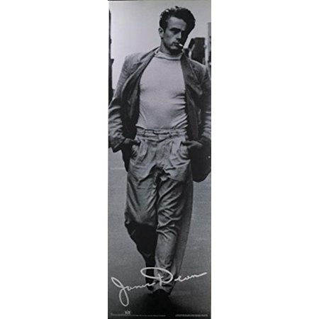 RARE Classic James Dean  NYC by Roy Schatt 36x12 Art print poster   Black and White Photograph Cigarette White Shirt Walking