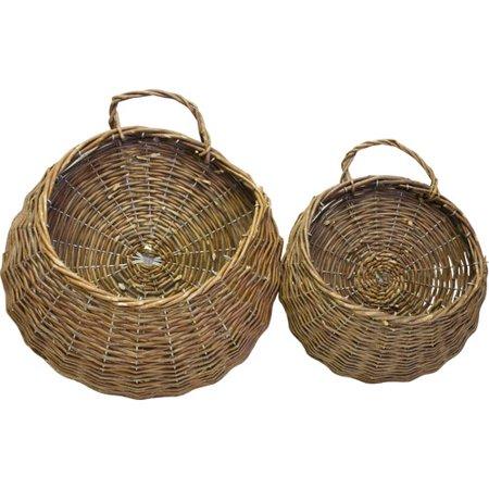 Desti Design 2 Piece Round Unpeeled Willow Basket Set