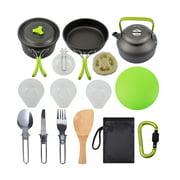ABEDOE Outdoor Camping Pot Set Teapot Set Portable Kettle hiking Cookware Combination