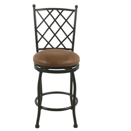 Swell Homepop 24 Tristan Swivel Counter Stool Brown Faux Leather Lamtechconsult Wood Chair Design Ideas Lamtechconsultcom