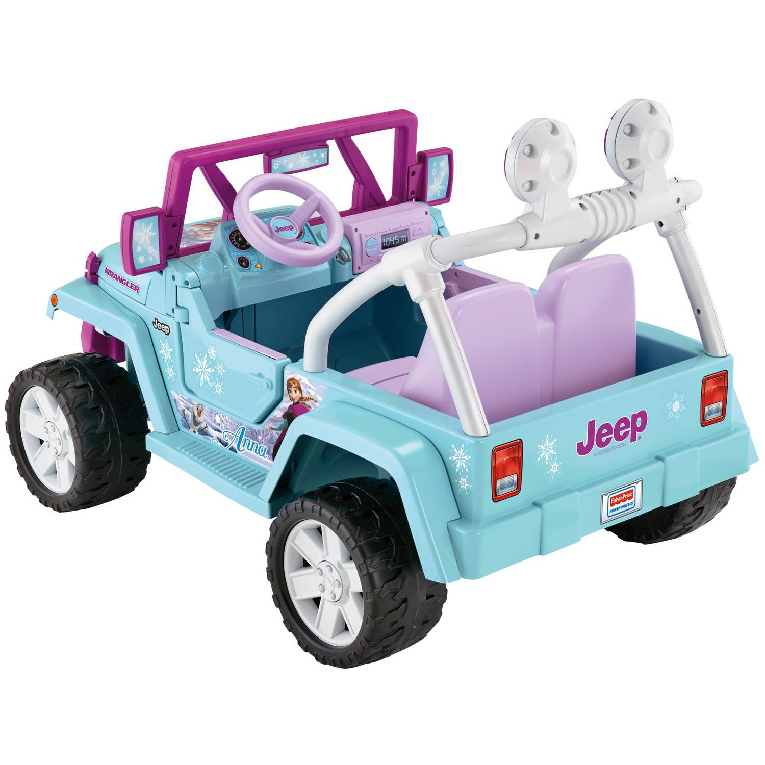 Fisher price power wheels disney frozen jeep wrangler 12 for Fisher price motorized cars