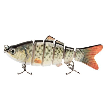 Offshore Fishing Lures (18g/9.5cm Fishing Lure Available Multi Jointed Life-like Swimbaits Crankbaits with 6# Fishing Hook 6 Segment )
