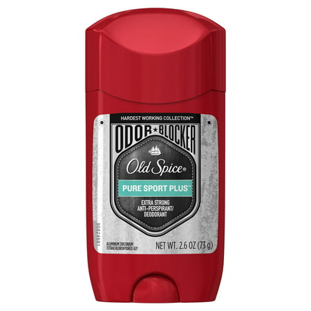 Old Spice Hardest Working Collection Odor Blocker Anti-Perspirant & Deodorant for Men Pure Sport Plus 2.6
