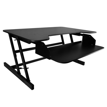 Universal Computer personal computer Workstation Stand - Siting/Standing Desk, Quick Setup Pop-Up Design