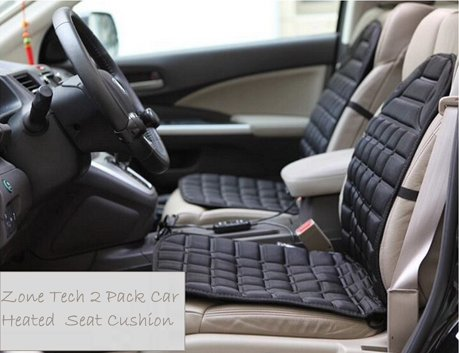 Zone Tech 2 Pack 12V Heated Car Seat Cushion Premium Quality ...