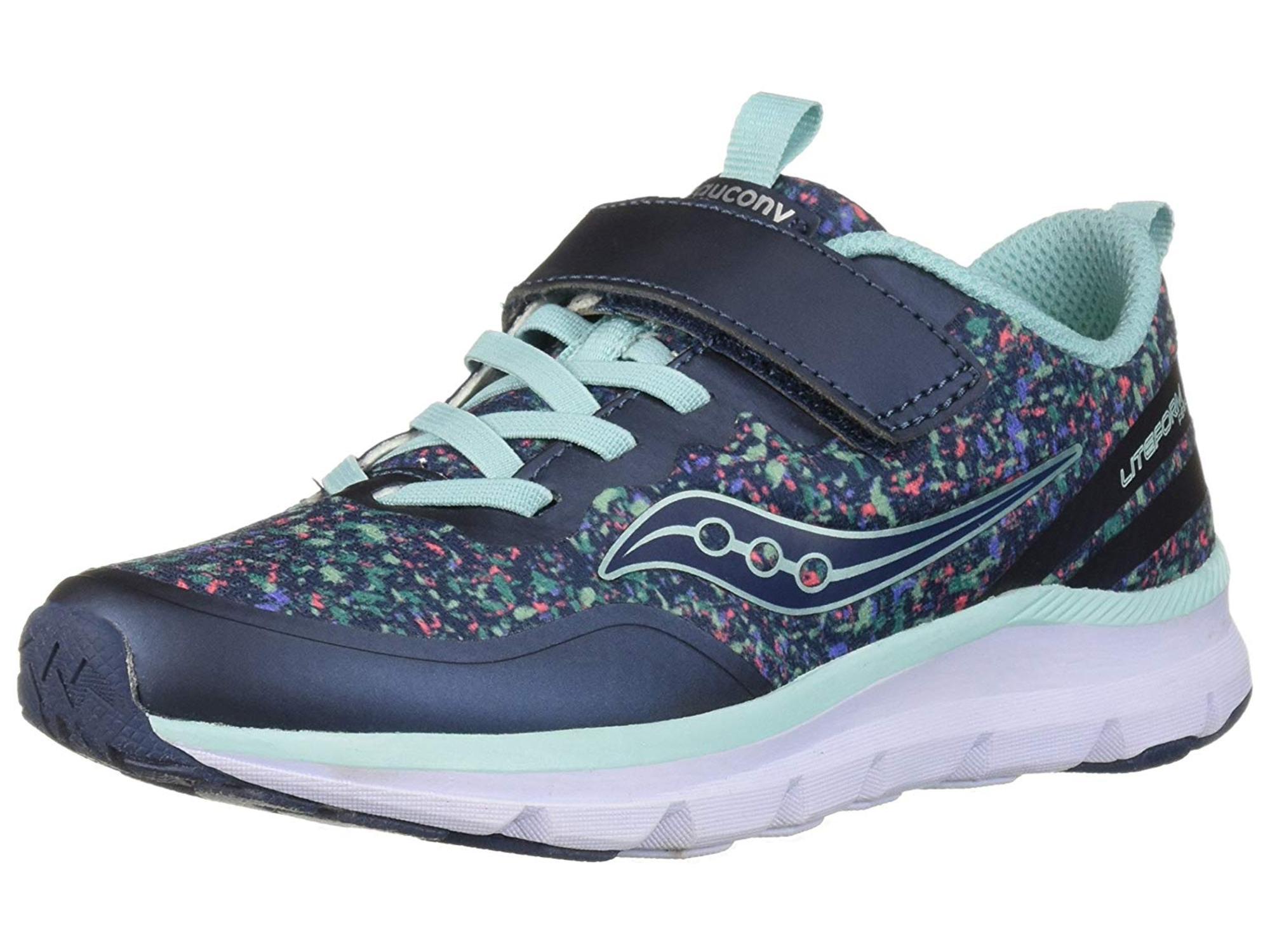 21e1ce1e Saucony Kids' Liteform Feel A/C Sneaker, Navy/Print, Size 11 W Us Little Kid
