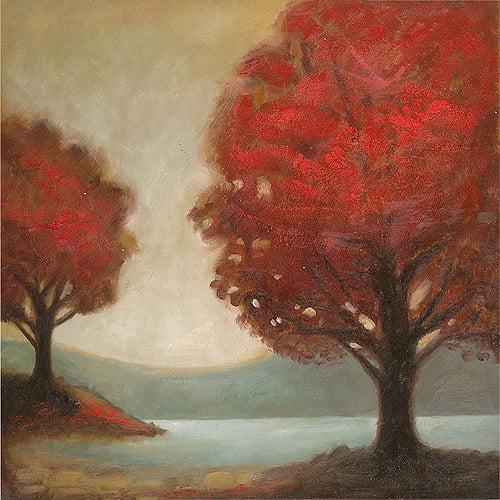 """Trademark Fine Art """"Modern Landscape"""" Canvas Art by Joval, 24x24"""