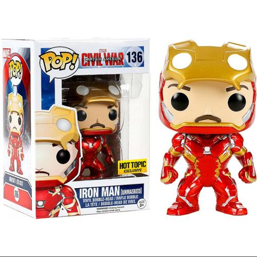 Funko POP! Marvel Iron Man Vinyl Bobble Head [Civil War, Unmasked]