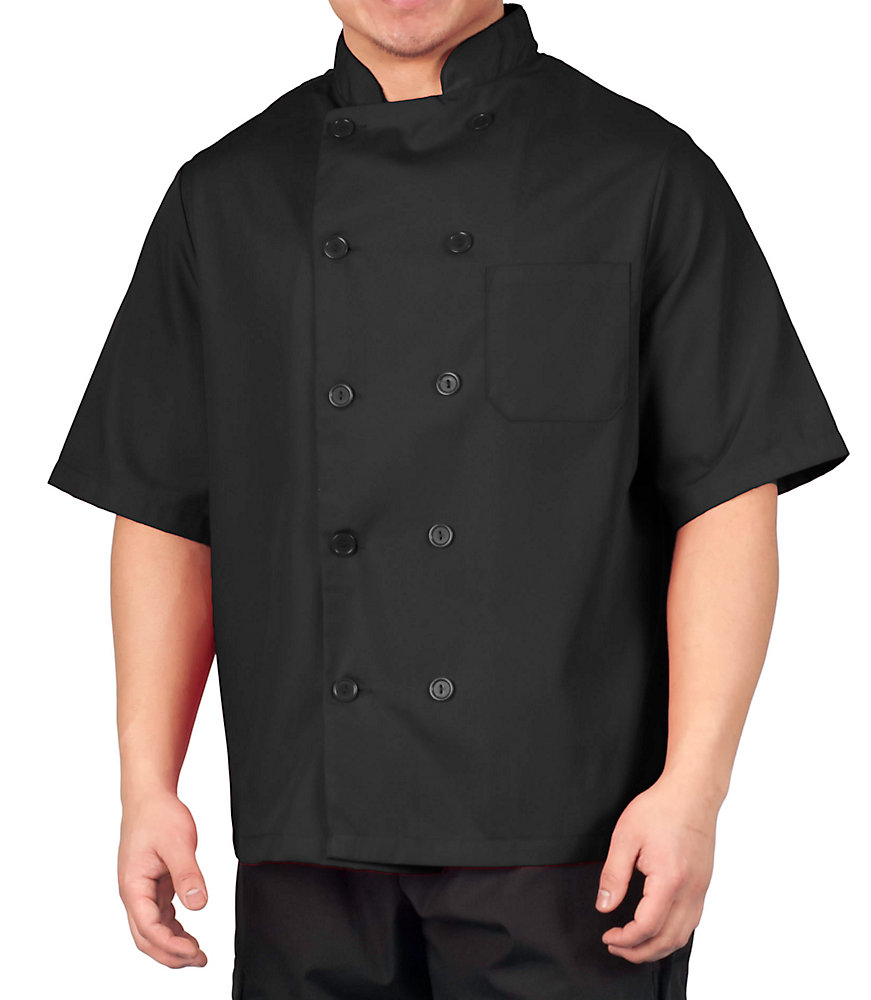 Big Men's Lightweight Short Sleeve Chef Coat by Kng