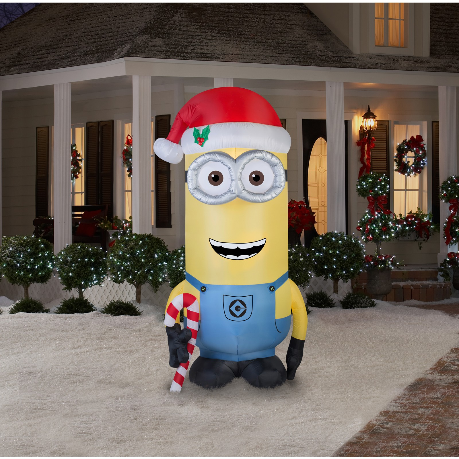 minions christmas kevin 8 foot outdoor airblown walmartcom
