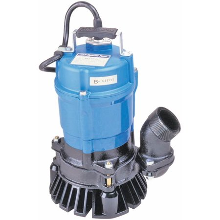 Tsurumi Hs Agitator Trash Pump  1 2 Hp  110 220 V  60 Hz  1 Phase 2 In Outlet