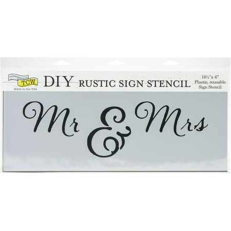 "Crafter's Workshop Rustic Sign Template 16.5""X6""-Mr & Mrs - image 1 de 1"