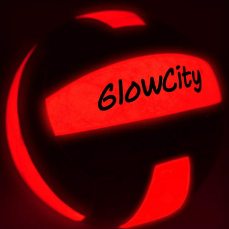 GlowCity Light up LED Volleyball, much brighter than glow in the dark! - Glow In Dark Light