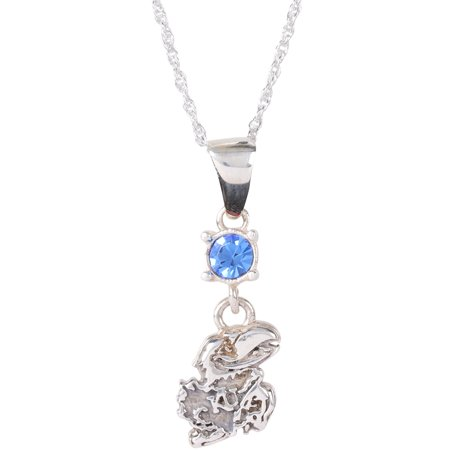 - Kansas Jayhawks Dayna Designs Women's Crystal Pendant Necklace - No Size