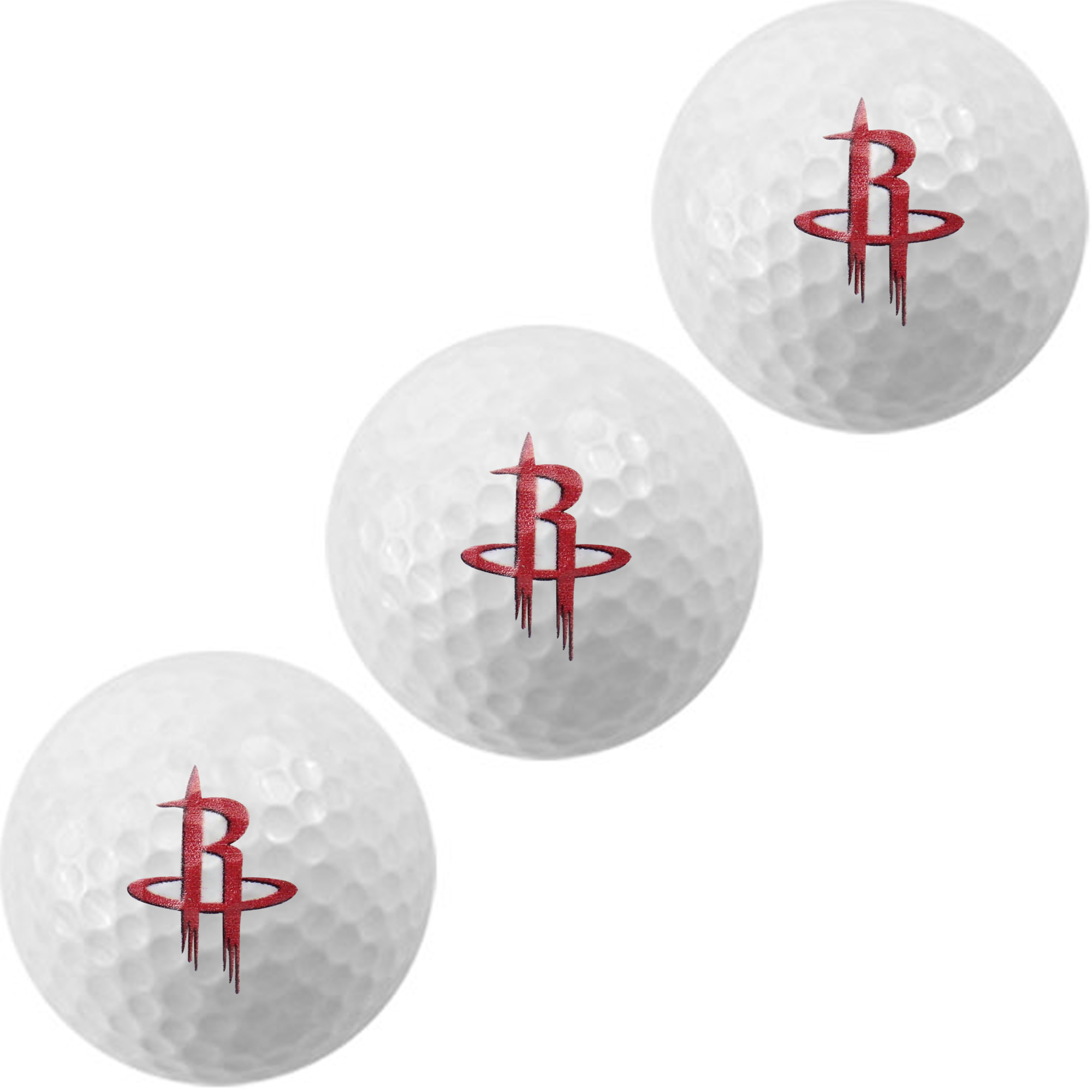 Houston Rockets WinCraft 3-Pack Golf Balls - No Size