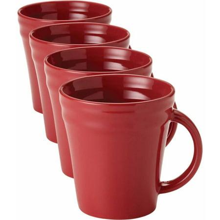 Rachael Ray Double Ridge Mugs Set Of 4
