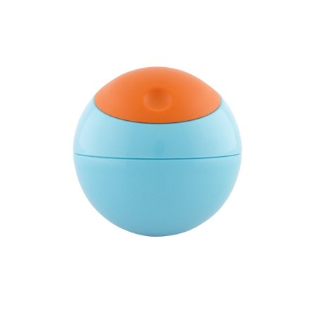 Boon Snack Ball Snack Container, 9m+, Blue Raspberry/Tangerine, 1 ea