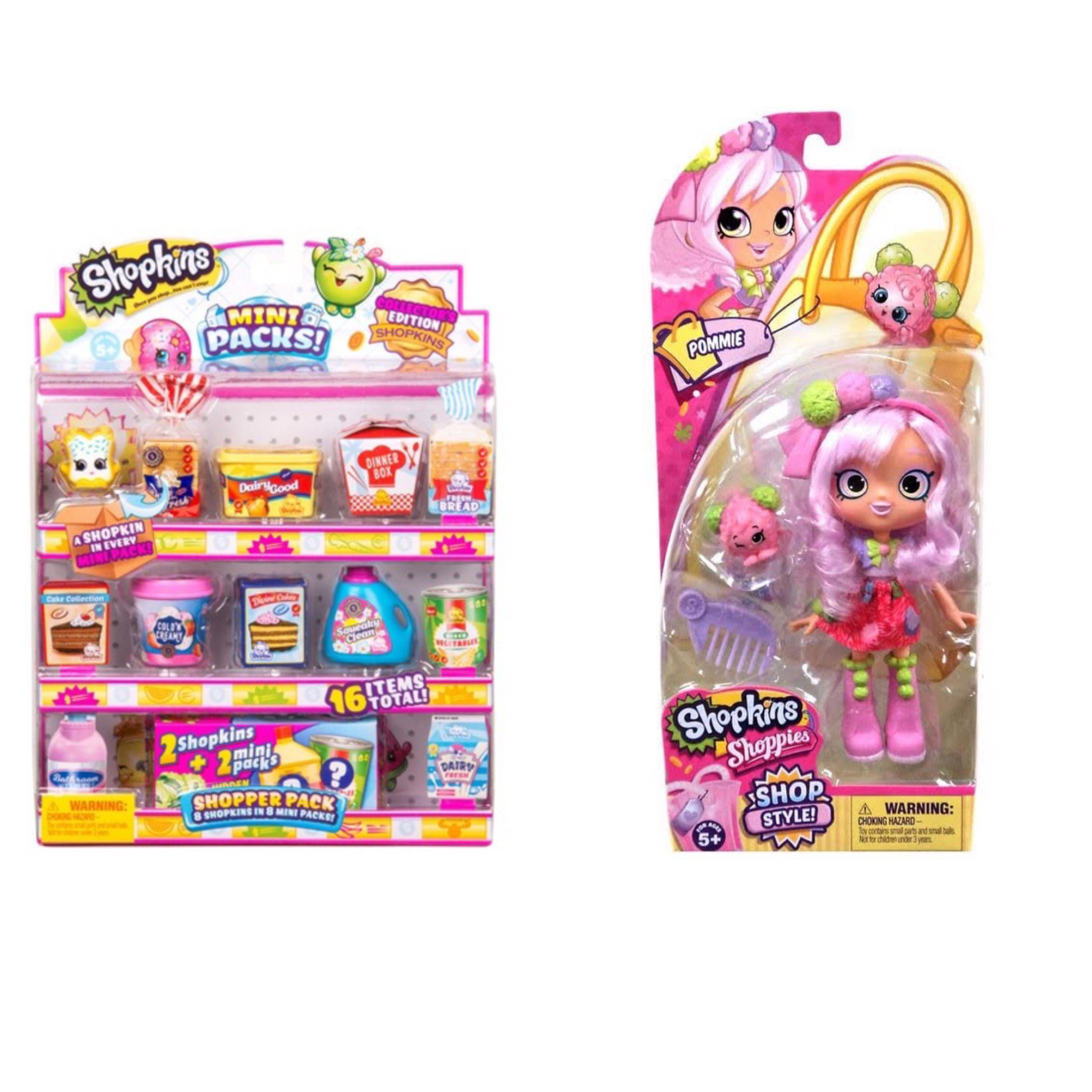 Shopkins Season 10 Shoppie Doll Pommie and Mini Pack Shoppers Pack Bundle