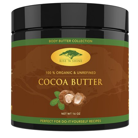 Raw Cocoa Butter - Perfect for All Your DIY Home Recipes Like Soap Making, Lotion, Shampoo, Lip Balm & Hand Cream - Unrefined Organic Cacao Butter Good for Stretch Marks (16 oz) (Cocoa Recipe)