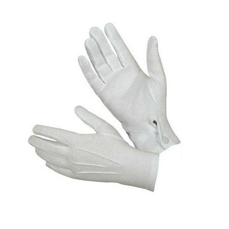 Outtop 1Pair White Formal Gloves Tuxedo Honor Guard Parade Santa Men Inspection](White Gloves In Bulk)