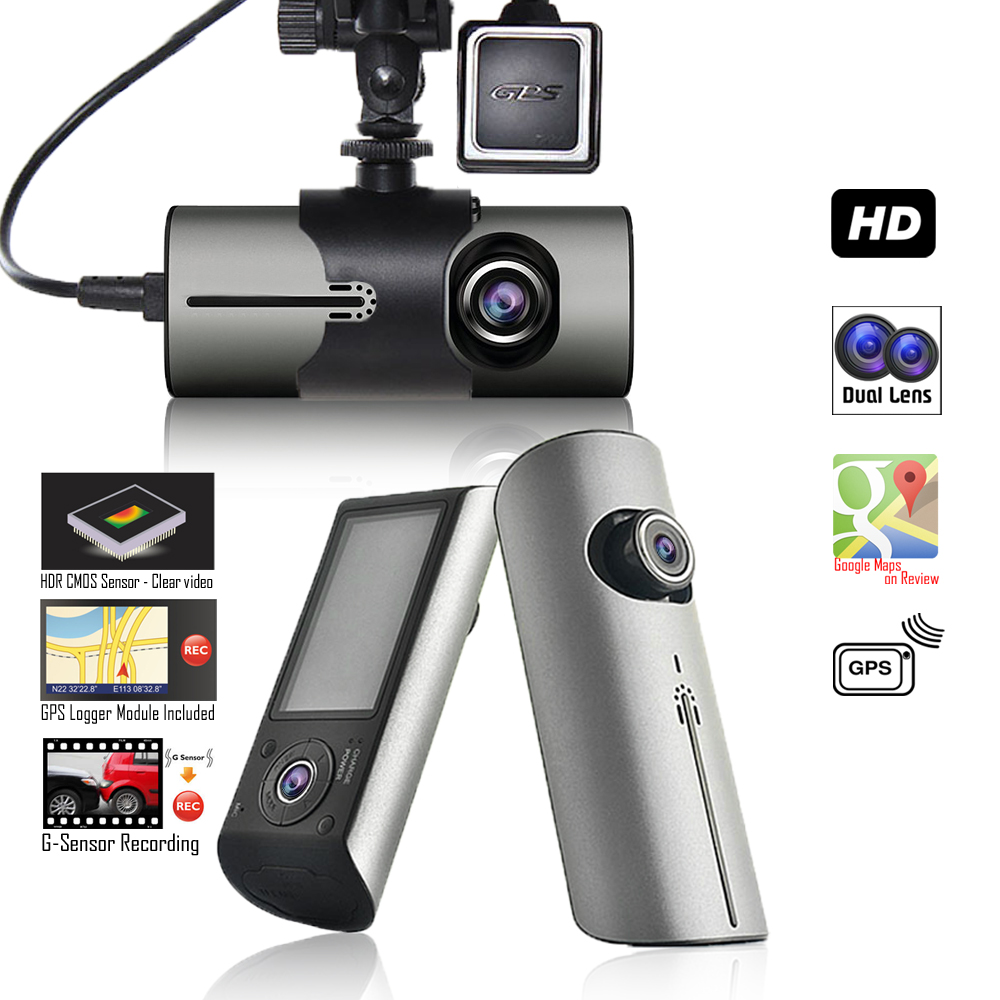 "Indigi BlackBox 2.7"" HD LCD Wide Angle Vehicle Car DVR Driving Recorder + GPS module + Google Maps Tracking"