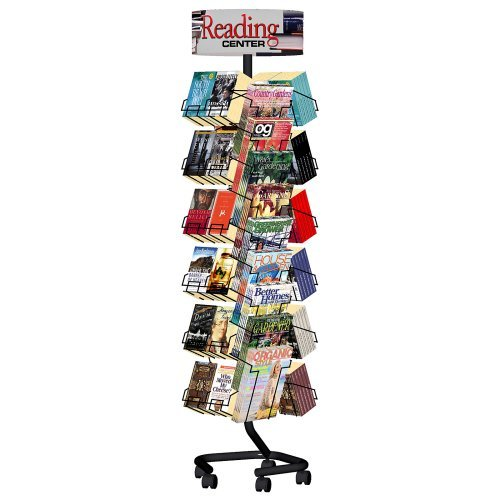 Combination Magazine Paperback Book Rack with Casters