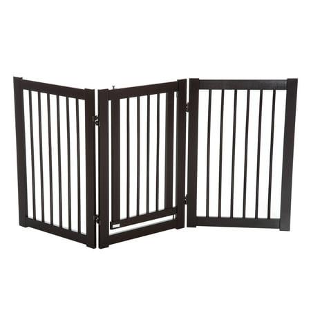 Free Standing Wood Pet Gate Folding Z Shape Configurable Dog Gate - image 5 of 7