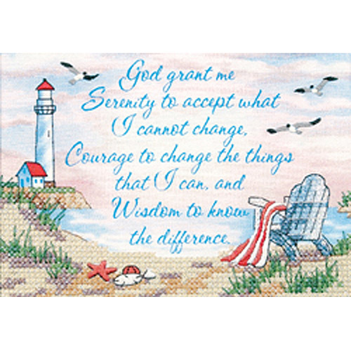 "Dimensions Serenity Prayer Mini Stamped Cross Stitch Kit, 7"" x 5"""