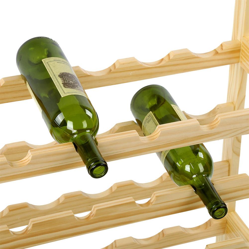 Fdit Bamboo Wine Glass Rack Holder Cup Hanging Shelf Organizer for Home Bar Restaurant Use