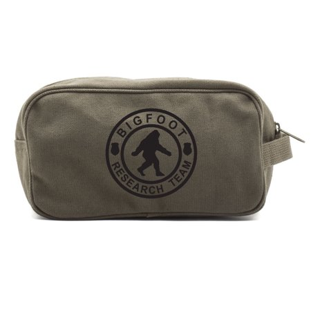 Bigfoot Research Team Canvas Shower Kit Travel Toiletry Bag Case