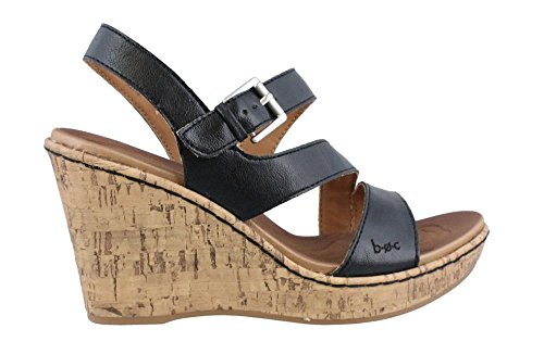 B.O.C. Women's, Schirra High Heel Wedge Sandal Black 6 M
